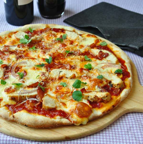 Crispy Thin Crust Barbecue Chicken Pizza