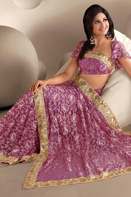 Pink-Color-Bridal-Saree