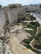 Exterior walls of Jerusalem facing east, near Lion's Gate