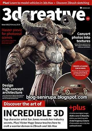 3D Creative Magazine Issue 102 February 2014
