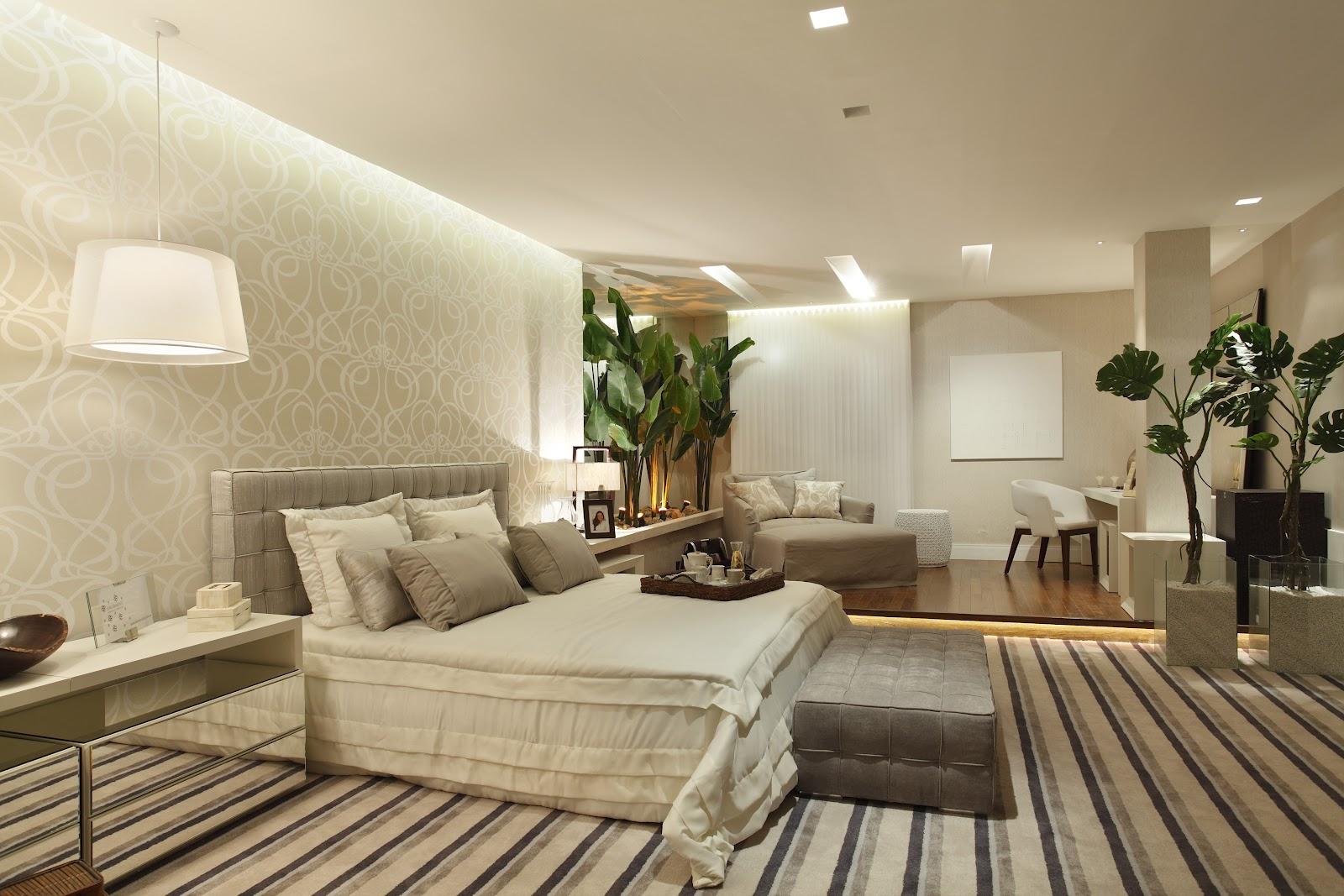 papel de parede decoracao de interiores:+de+casal,+iluminacao+indireta,+detalhe+de+gesso,+papel+de+parede