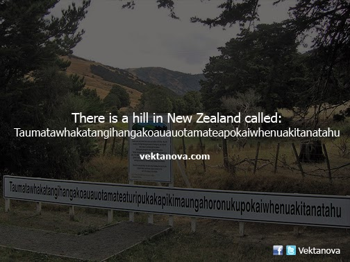 There is a Hill in New Zealand that Has Longest Name