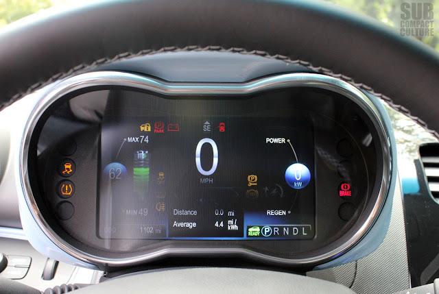 Chevrolet Spark EV gauge cluster