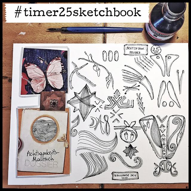 Timer 25 Sketchbook Studies with Milliande Day 2, create art portfolio ideas, capi, milliande, sketchbook, illustration, design, surface pattern ideas