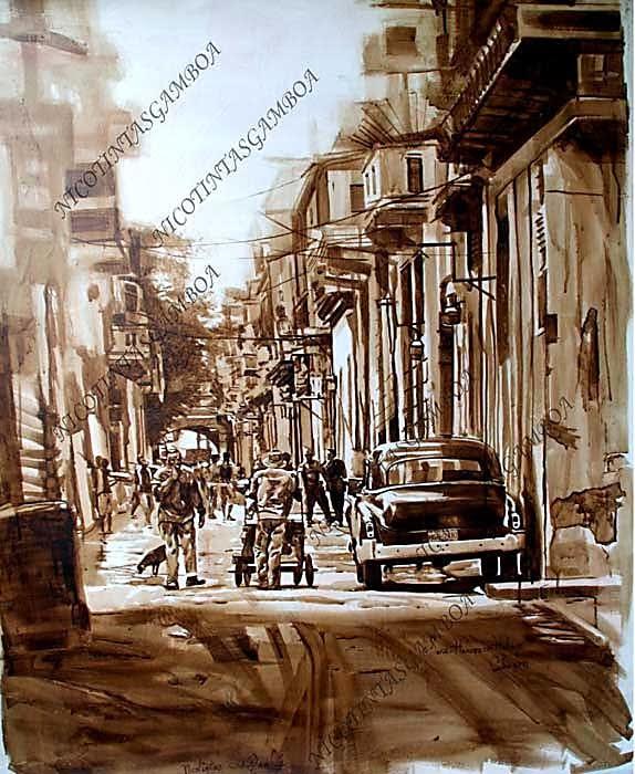 Cuban paint Havana Habanos