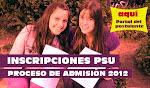 Inscripción PSU 2012