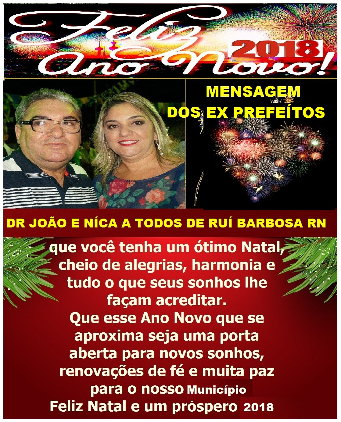 MENSAGEM DOS EX PREFEITOS DR JOÃO E NICA