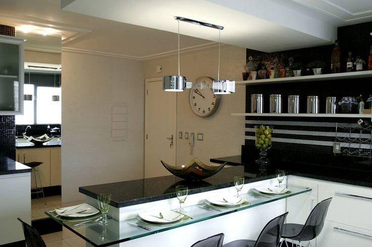 Tipos de cozinha americana +15 fotos e medidas para bancadas!  Decor Alterna # Ilha Cozinha Em Alvenaria