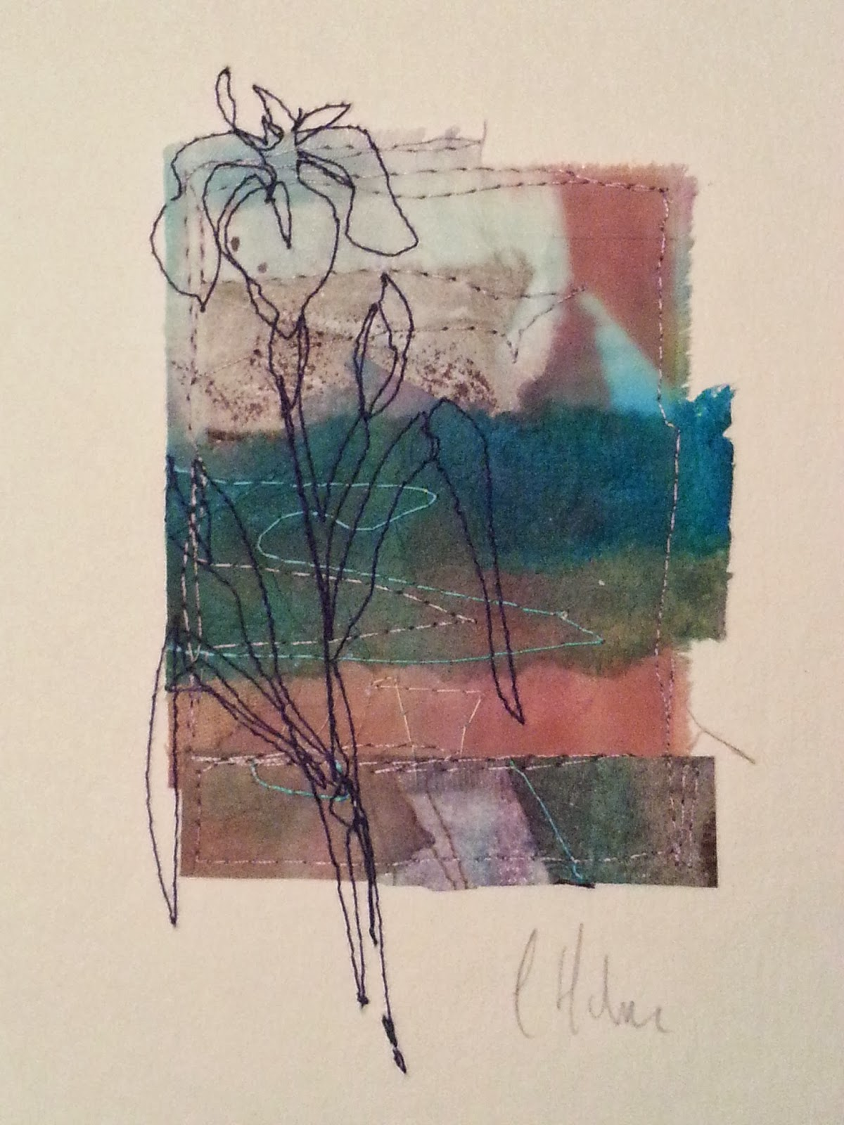 stitchclothcolour  collagraph weekend workshop with cas holmes