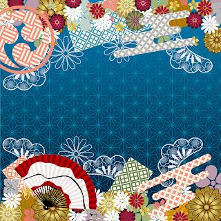 和装柄の背景 japanese wind pattern background イラスト素材2