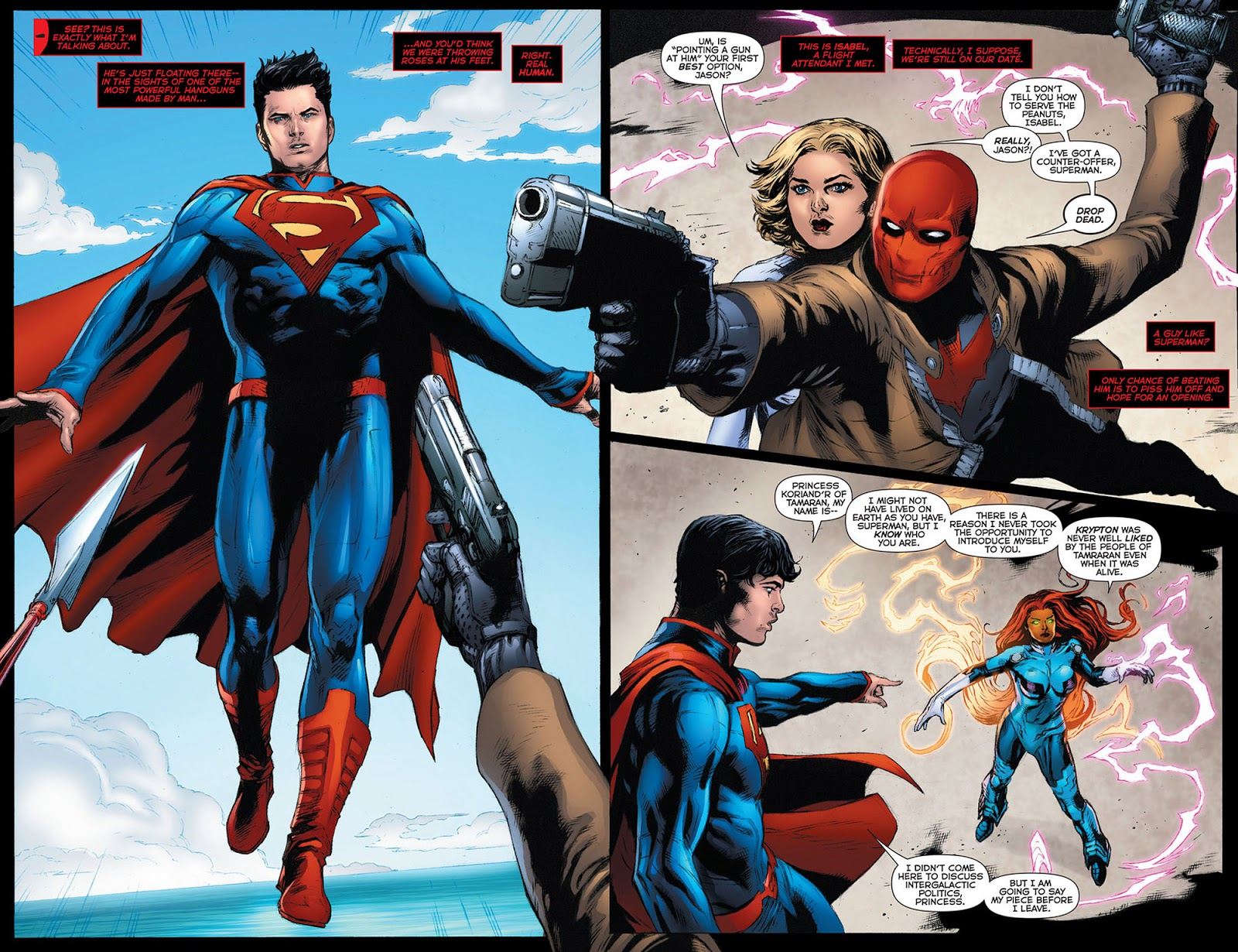 What is this goofy mess? Superman looks, like, twelve years old. Heck