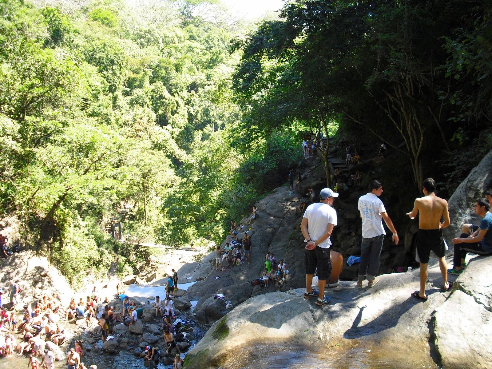 Waterfall one, down-river, on the 'Seven Waterfalls' trek, Villeta, Cundinamarca, Colombia.