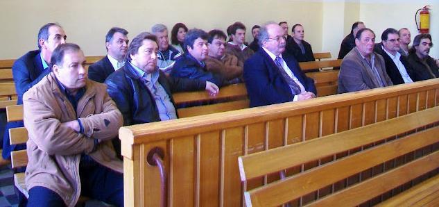 Στο ακροατήριο o δήμαρχος Δ. Καμιζής με τους δ.σ. του  και ο Δ. Σφυρής μόνος…
