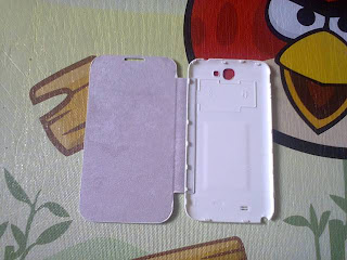 Leather Case Flip Cover Samsung Galaxy Note II GT N7100 White
