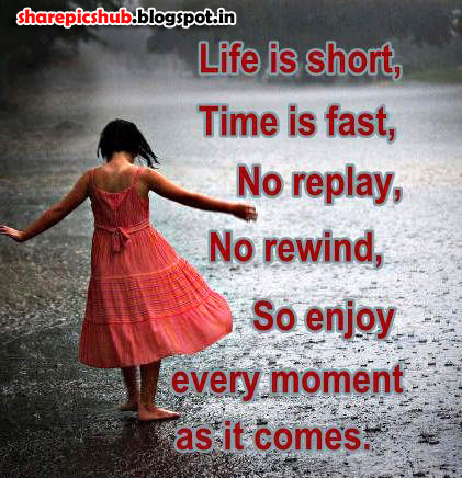 life is short quote image for facebook beautiful life quote pics share pics hub. Black Bedroom Furniture Sets. Home Design Ideas