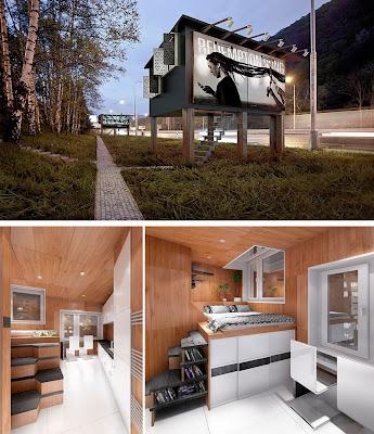 Casas em outdoor -abrigos para sem tetos