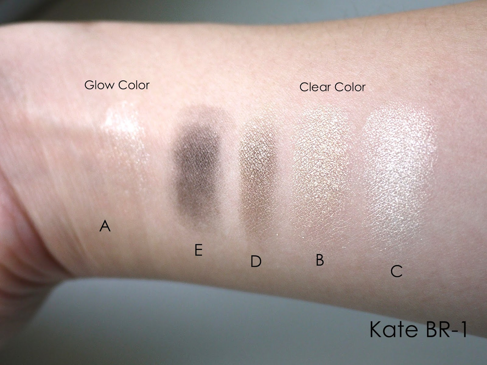 Kanebo Kate real create eyes br1 br-1 review swatch
