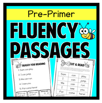 Fluency Passages - PrePrimer