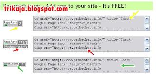 Pasang Statis Pagerank Blog Anda