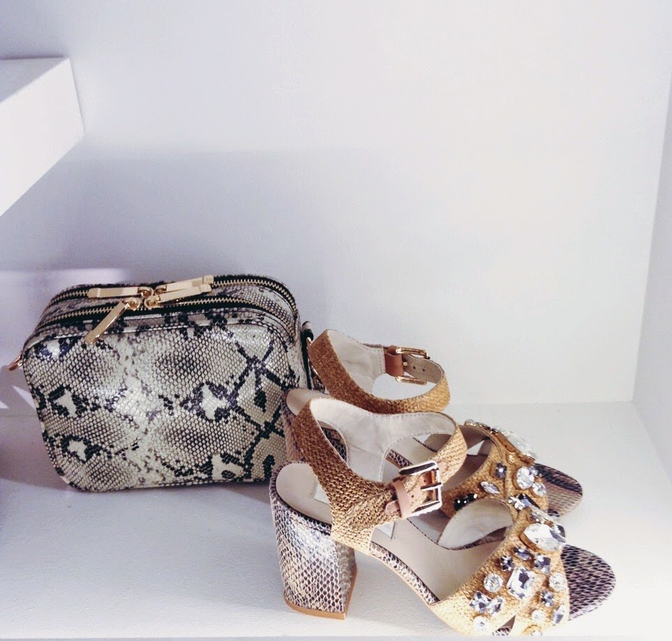 debenhams ss15 press day snakeskin accessories sandals