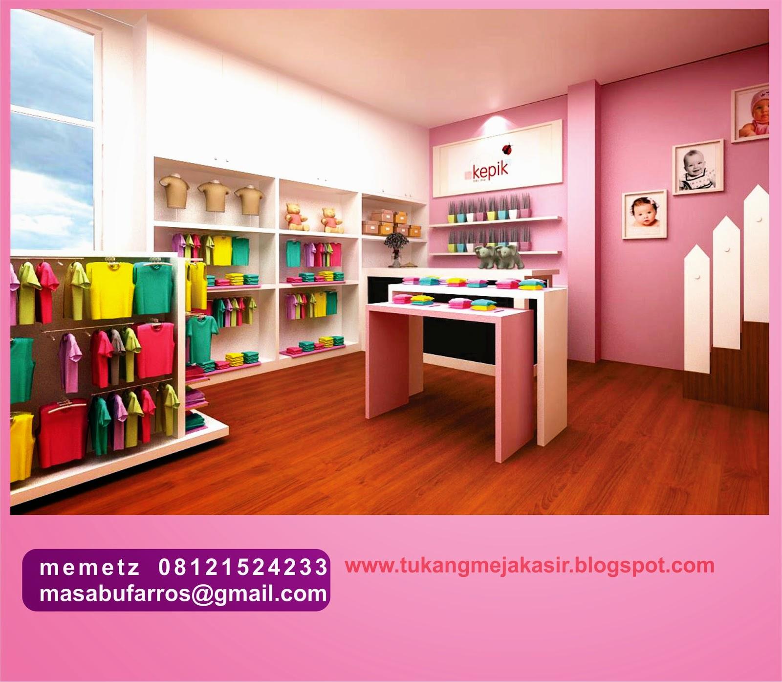 interior design & specialist meja kasir: baby shop design