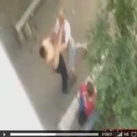 Agrediu a namorada e foi nocauteado em seguida