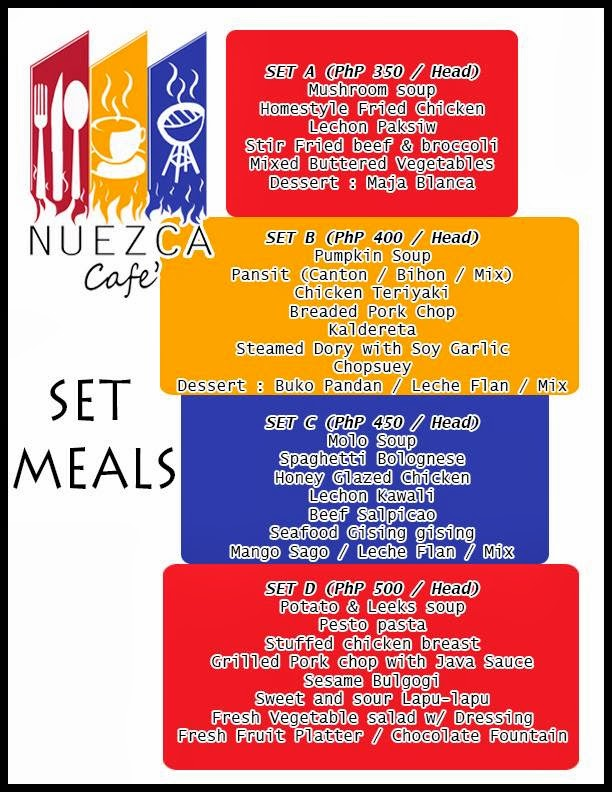 Nuezca Cafe: Set meals