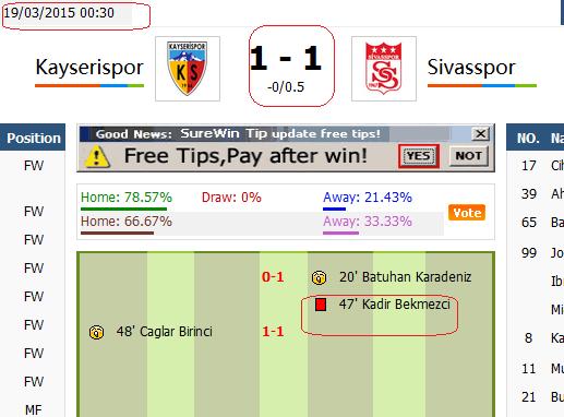 kayserispor vs sivasspor turkey cup