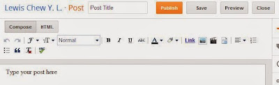 Blogger post editor COMPOSE mode