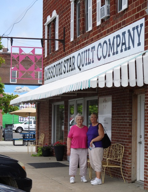 Marilyn And Brenda Outside The Original Missouri Star Quilt Company Store Hamilton MO August 2015