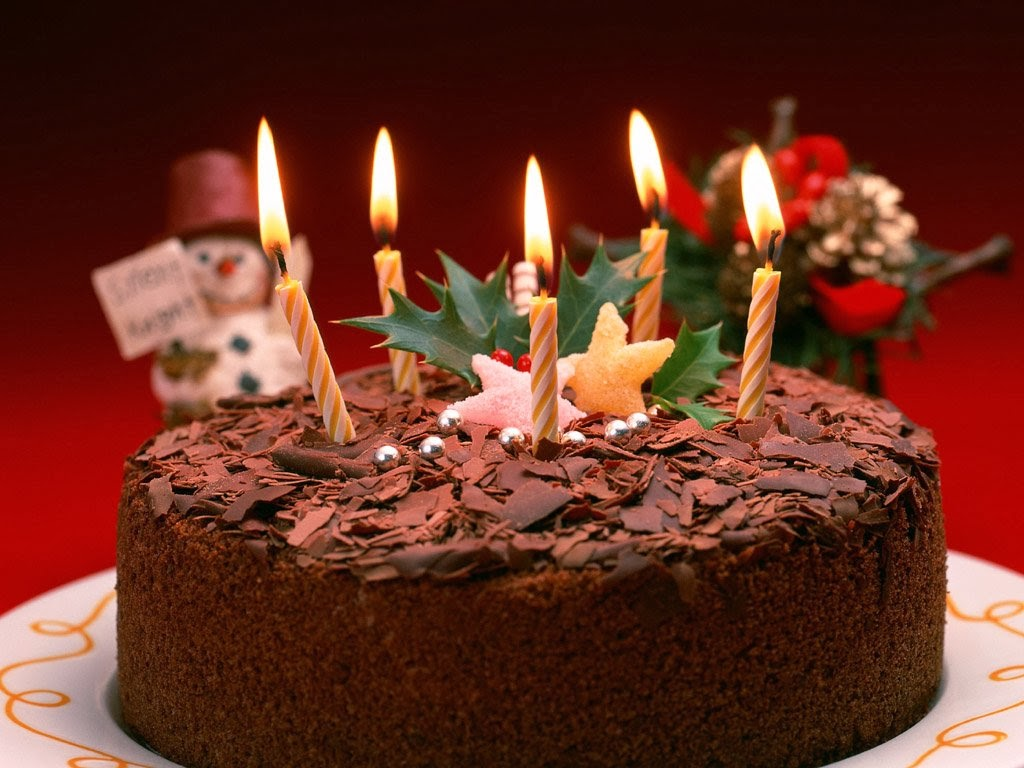 Best Happy Birthday Image with Candles Chocolate Cake