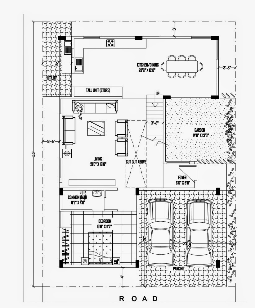 Ghar planner leading house plan and house design Duplex layouts