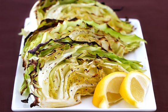 Roasted Cabbage Wedges side
