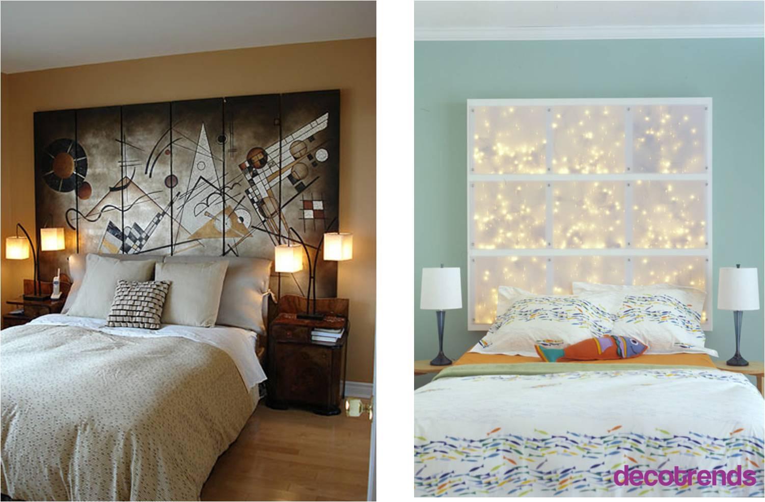 Yatak başı için yaratıcı dekorasyon fikirleri