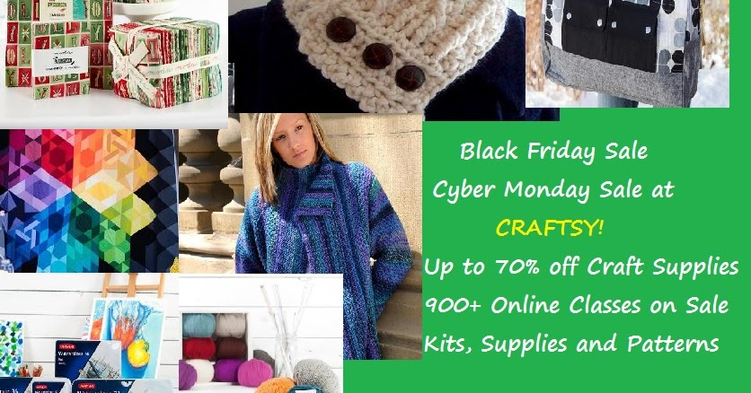 craftdrawer crafts craftsy black friday cyber monday sale