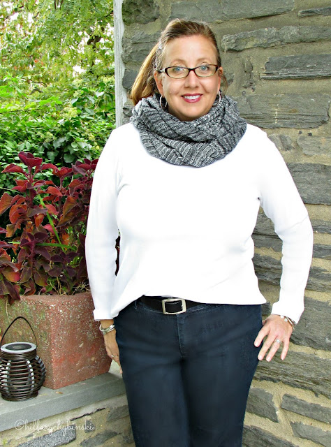 Aventura Bergamo Infinity Scarf styled for Fall