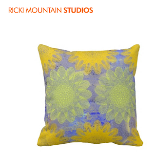 Art by Ricki Mountain -Geometric pattern Pillow Art