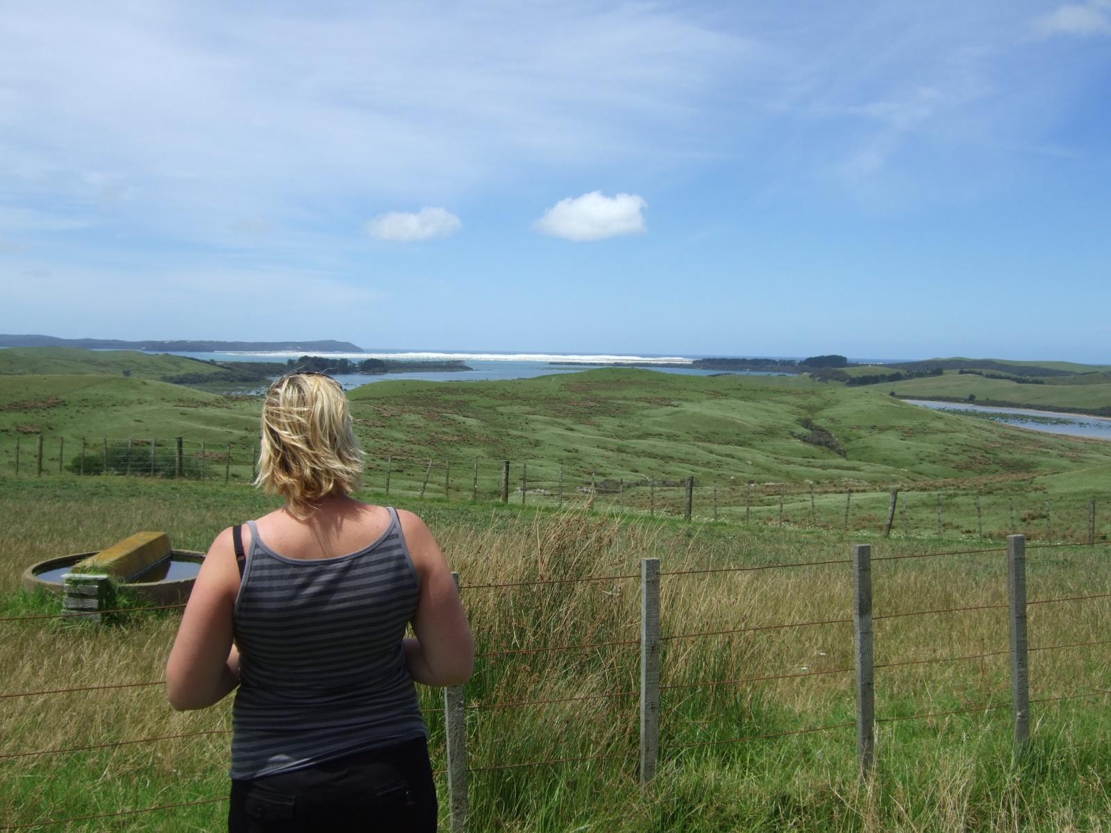 草原,女性,ニュージーランド〈著作権フリー無料画像〉Free Stock Photos