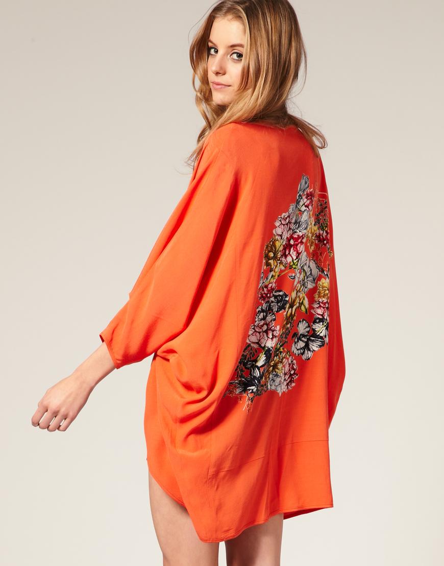 q8 rain kimono jacket trend asos. Black Bedroom Furniture Sets. Home Design Ideas