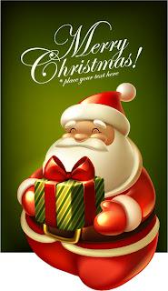 サンタクロースのクリスマスカード テンプレート cute christmas greeting cards イラスト素材