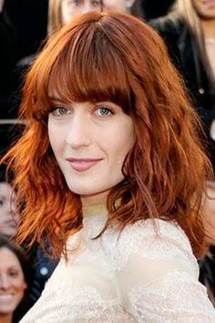 cortes de pelo rojo cobre para pelo largo 2017