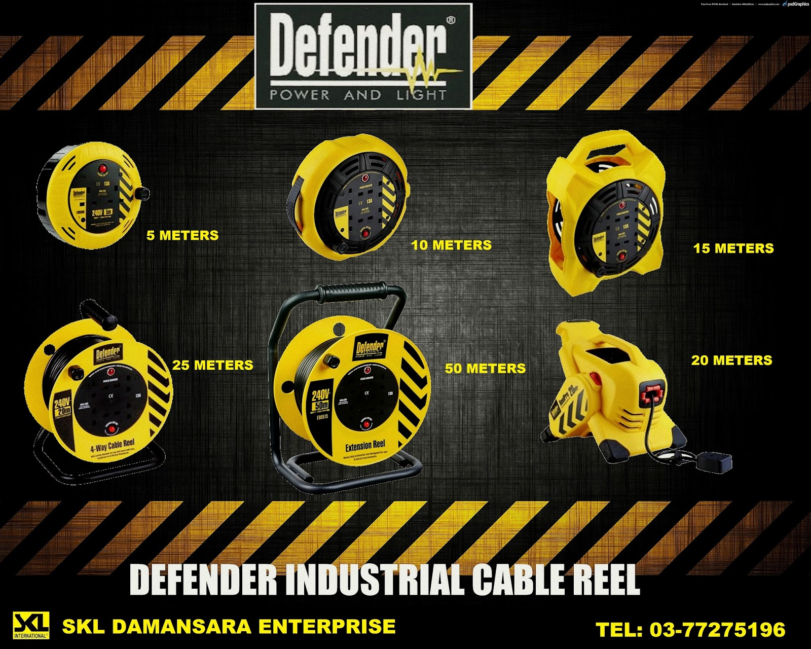 Defender Industrial Heavy Duty Reel Extension now available at Damansara Utama outlet!!!!