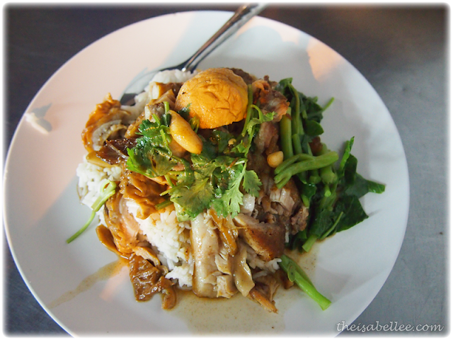 Pork rice at Thong Lor Night Market Bangkok