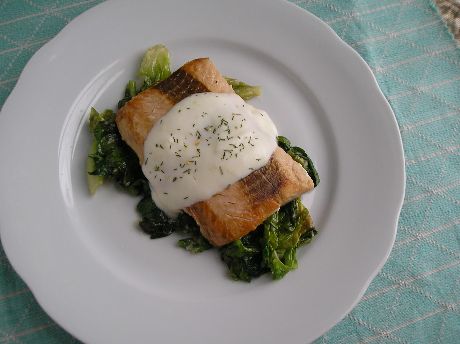 Improv Challenge: Salmon with Lemon Cream Sauce ~ Edesia's Notebook