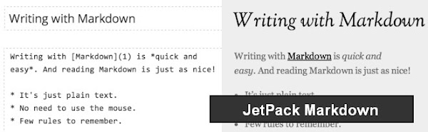 Markdown support through Jetpack plugin