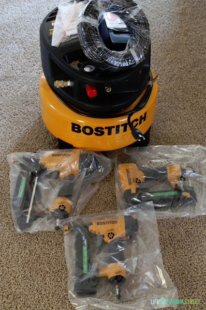 Bostitch Air Compressor for Board and Batten Walls