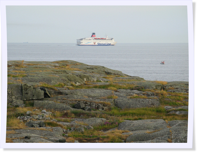 View of Stena Line Ferry from Vinga Island