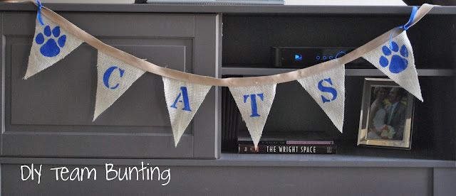 DIY game day bunting
