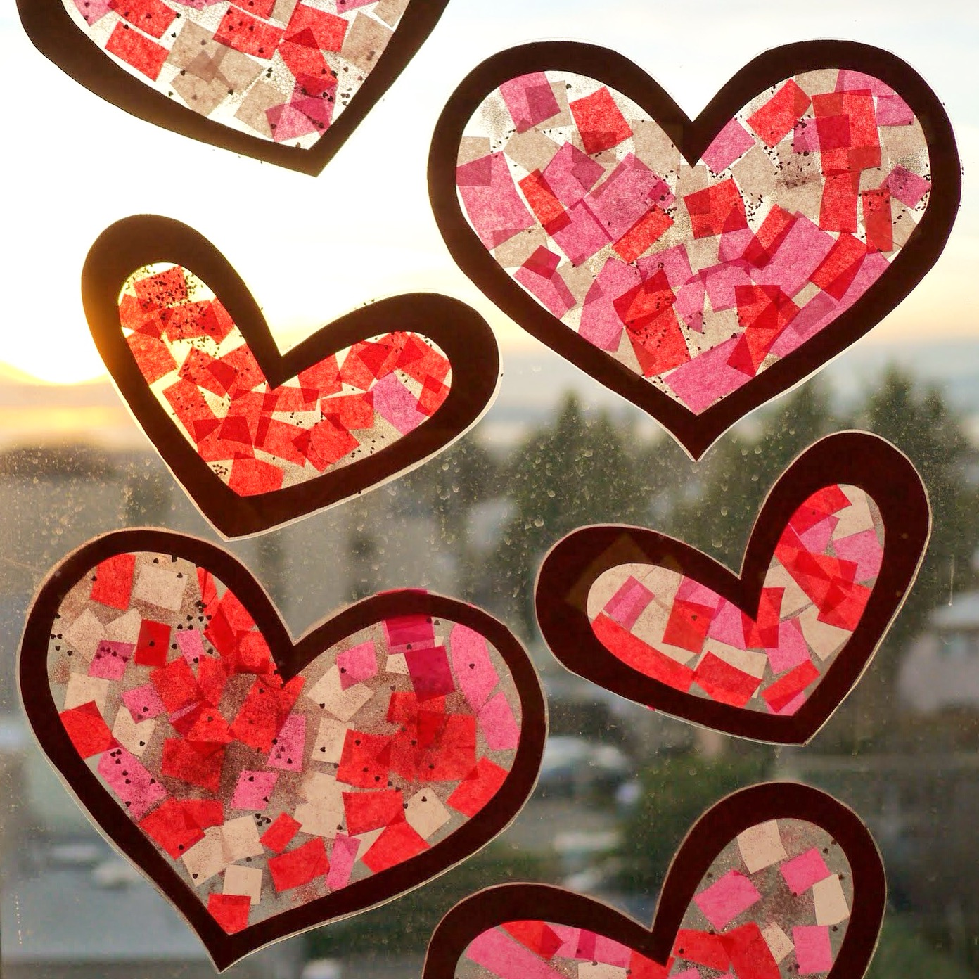 Valentine Heart Sun Catchers