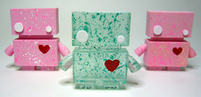 Valentine&#8217;s Day Jellybot Resin Figures by The Jelly Empire - Cupid Jellybot & Bad Cupid Jellybot